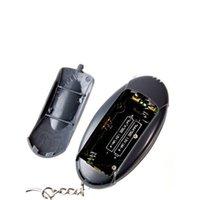 Gros-1pc LCD numérique alcool testeur d'haleine ivressomètre / Alcootest avec porte-clés, la minuterie, la fonction lampe de poche LED