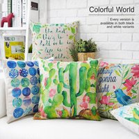 black pillow cases - Noragami Dakimakura Pure And Fresh Pastoral Painting Of Flowers Cotton Hold Emoji Pillow Case Watercolor Cactus Cushion