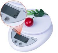 Envío de la gota 5000g 5kg x 1g Digital Electrónica Cocina Escala de peso de la Dieta de Balance de Alimentos Mayoristas Retial