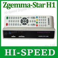 Wholesale 1pc Original ZGEMMA STAR H1 Satellite TV Receiver DVB S2 DVB C Two Tuner Combo Enigma2 Linux Smart Box Zgemma star H1 Twin Tuner