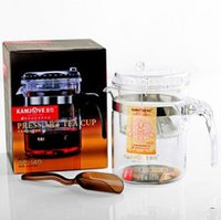 Wholesale Kamjove TP Glass Tea Pot Cha Dao Press Art Tea Cup ML