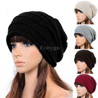 beret party hats - Hot Sales Unisex Women Men Winter Warm Ski Knitted Crochet Baggy Beanie Hat Cap Beret Fx246