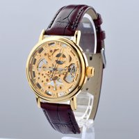 high end watches - Gold Skeleton Mechanical Watch New Fashion high end MCE wristwatches Stainless Steel Mens Watch