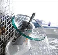 Cheap Bathroom waterfall Faucet Chrome Finish Basin Sink Faucet Mixer Tap Waterfall Faucet . Bathroom sink glass Mixer Tap YT-5029