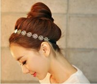aqua roses - HW Fashion Jewelry For Women Hollow Metal Plate Made Of Roses Flower Hairwear