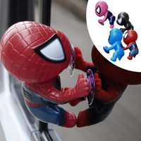 Wholesale Anime spiderman Toy Window Climbing red black Spider Man Doll toys Car Home Interior Decoration With suction cups kids toys bbb