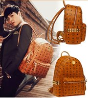 houndstooth dress - HOT Brand Spring Fashion Classic MCM Rain Stark BACKLEGEND Backpack Bag MCM Bags Elements EXO Handbag high quality durable