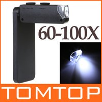 Wholesale Microscope for iPhone G X Zoom LED illuminated Magnify Magnifier with Back Cover and Protective Pouch