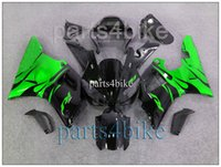 aftermarket s - ABS Fairings For yamaha YZFR1 green black YZF R1 YZF R1 R YZF R1 Aftermarket ABS Fairing W12