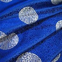 brocade fabric - Shallow high grade gold brocade fabric thick sapphire ring silk fabric cushions Chinese clothing cheongsam costume jacket C