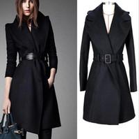 Wholesale New monde women s coats Large lapel women s trench coats womens coats Women s Outwear woolen coat long coat