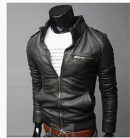 Wholesale New Arrival Mens Casual Clothes Male Motorcycle Leather Jacket Zipper Design Jackets Mans Waistcoat Designs Christmas Gift
