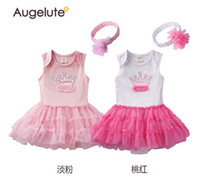 baby watermelon costume - 2015 new baby girls romper sleeveless coat and triangle tulle skirt Climb toddler costume sets with flowers Headbands age ab39