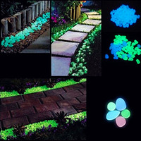 Wholesale Artificial Luminous Light emitting Pebbles Stones Gravel Glow in the Dark for Aquarium Fish Tank Garden Water Fountain