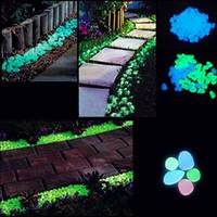 artificial fountain - Artificial Luminous Light emitting Pebbles Stones Gravel Glow in the Dark for Aquarium Fish Tank Garden Water Fountain