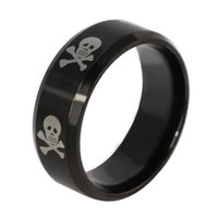 Wholesale ORSA New arrival Titanium Steel Skull Pattern Rings for Men Punk Fashion Jewelry Accessories WTR71