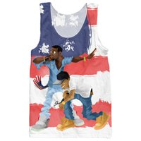 artist lyrics - RuiYi The Throne Tank Top hip hop artist Kayne West and Jay Z spit lyrics with the American flag d Vest Jersey For Women Men