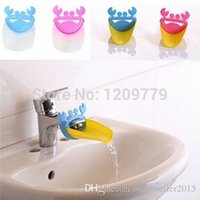 Wholesale 1PC Bathroom Sink Faucet Extender Crab Shape For Children Kid Washing Hands T1260 W0 SYSR
