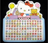 hello kitty stickers - Hello Kitty sheets GIRL STICK ON EARRINGS STICKERS Classic Toys For Kid Boys Girls Children
