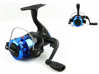 Cheap New Plastic Fishing Wheel Vessel Fishing Spinning Reels Interchangeable Collapsible Fishing Gear 5.1:1 Speed for Angeles Rod Golden Blue