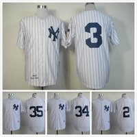 Wholesale Real New Men Embroidery Logos Baseball Team Player Jersey Collection Size M XL Color York White Grey