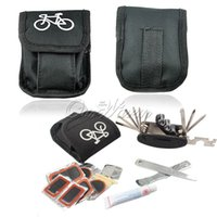 Wholesale Multifunction Portable Bicycle Cycling Tire Repair Tools Fix Rubber Set Kit Patch Bike with Outdoor Bag
