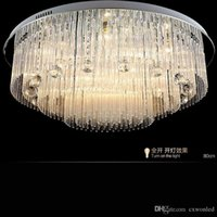 Wholesale Modern LED Crystal Chandelier lighting For Beach House Bedroom Dining Room AC110 V LED Crystal Ceiling Lamps Fixtures