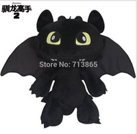 Wholesale 8 quot CM How to Train Your Dragon Toothless Night Fury Plush Doll Soft Stuufed Toy Christmas Gifts