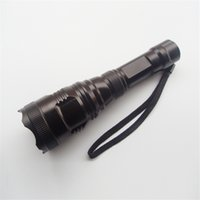 lens for cree led - Black Cree LED Flashlights H Lifetime Mode Convex Lens LED Torches for Camping or Hiking High Power Hot Sale TC81