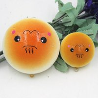 Wholesale 2015 Lovely Simulation Bread CM Miniature Food PU Material Cartoon Bread Pendent Toys for Children