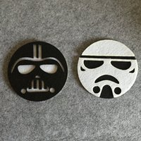 Wholesale 2016 Star Wars Cup Pads Cartoon Darth Vader White Soldiers Double Layer Cloth Felt Cup Mat Kitchen Drink Tool Top Quality C380