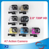 achat en gros de hd aller-Hot et pas cher !!! 720P HD GoPro style Caméra Extreme SJ4000 A7 Sport DV Action Camera plongée 30M Etanche aller de style pro SJCAM 2 PC ZY-DV-02