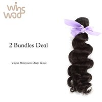 Wholesale Unprocessed A Grade WoWigs Malaysian Virgin Hair Deep Wave Virgin Malaysian Hair Weave No Tangle