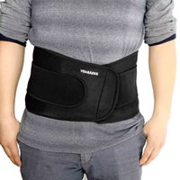 lumbar support - Elastic Ajustable Velcro Sports Safety Waist Support Support Brace Double Belt Strap Lumbar Back Protection Y0380