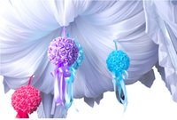 ball room dancing - Wedding Decorations CM PE DIY simulation Rose ball flower Wedding Bouquet for Marriage room hanging