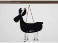 Wholesale New Style Christmas Deer Black Shape Message Board Home Articles Kindergarden Wooden Teaching Blackboard