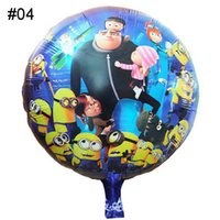 Wholesale Cartoon Despicable Me Minions Helium Balloons Foil Aluminium Coating cm Balloon Toys For Kids Baby Birthday Party Decorations