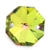 Wholesale 2015 New Sew On Crystal Glass Octagon hole Stone Multicolor quot x quot