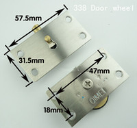 Wholesale 338 stainless steel copper core wardrobe door pulley wheel sliding door