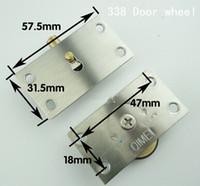 achat en gros de poulie inox-Acier inoxydable 338 roue porte de l'armoire de base de cuivre de la poulie de porte coulissante