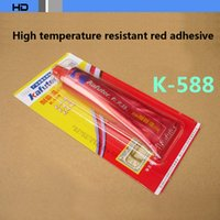 Wholesale 10pcs Kafuter K Sealing adhesive for car High temperature resistant red glue silicone free gasket sealant