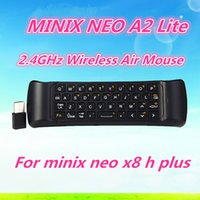Wholesale MINIX NEO A2 Lite GHz Keyboard Gaming Air Mouse Six axis Gyroscope Accelerometer Wireless