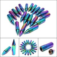 Wholesale M12 M12 Colorful mm Lightweight Automobile Anti Theft Screws Aluminum Racing Wheel Lug Nuts With Spikes