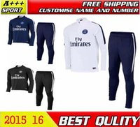 Wholesale 2015 Survetement Football psG IBRAHIMOVIC Cavani David Luiz VERRATTI Tracksuit Maillot de Foot Training Maillot Tracksuit pants