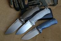 Wholesale New CNC Italy Lion Steel molletta Full Titanium Handled camping tool Folding Knife DF56