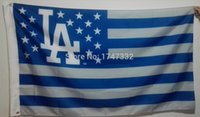 angeles hole - Los Angeles Dodgers MLB Major League Baseball Flag hot sell goods X5FT X90CM Banner brass metal holes LAD2
