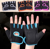 fingerless gloves - Gym Body Building Weight Lifting Training gloves Fitness Gloves Sports Exercise Slip Resistant Workout Glove for men women B