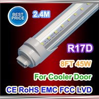 T8 45W SMD 2835 X25 R17D t8 led tube lights 8ft 45W 2.4m Fluorescent Lamp Rotating smd2835 192leds 4800lm AC85-265V single pin warm pure cool white