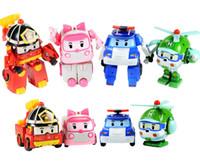 achat en gros de services de l'équipe-Déformation de Super Robot Robocar Poli équipe de déformation robot de déformation 4 styles camion de pompiers de voiture de police hélicoptère de service d'ambulance