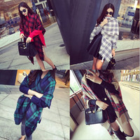 Wholesale cashmere scarf women s shawl winter keep warm blanket scarves Oversized Tartan Fringed Scarf